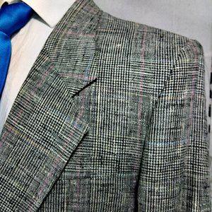 Cellini Collection Hopsack Suit Blazer Sport Coat